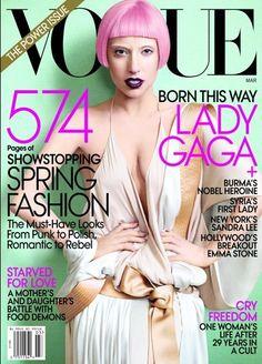 Marzo 2012 Lady Gaga cover tributo a Anna Wintour