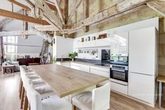 Spectacular Loft in a Century Castle in Bordeaux – The Design Stash Kitchen Dining, Kitchen Island, Loft, Belle Villa, Cuisines Design, Tiny House, Sweet Home, Comme, Home Decor