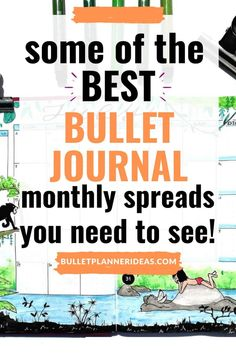 CHECK OUT THESE INSPIRING MONTHLY BULLET JOURNAL SPREADS THAT HAS YOUR BULLET JOURNAL COVERED FROM JANUARY TO DECEMBER AND A FEW BONUS SPREADS FOR FUN! Click to read more. Bullet Journal Writing, Bullet Journal Spread, Planner Ideas, Journal Covers, Spreads, The Incredibles, Magazine Covers, Sandwich Spread