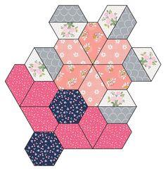 Tea Light Lanterns, Paper Lanterns, Quilting Templates, Star Quilt Blocks, Hexagon Quilt, Patchwork Patterns, English Paper Piecing, Floral Fabric, Quilt Making