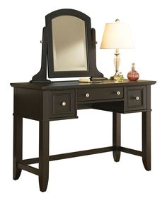 Love this Black Bedford Vanity Table by Home Styles on #zulily! #zulilyfinds