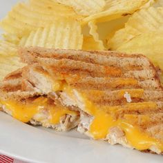 This chicken and cheese panini will hit the spot! A great combination of chicken and melted cheese. If you don't have a panini maker you can always do as a grilled sandwich. Chicken And Cheese Panini Recipe from Grandmothers Kitchen. Sandwich Maker Recipes, Panini Recipes, Panini Maker, Panini Sandwiches, Grilled Sandwich, Wrap Sandwiches, Kitchen Recipes, Cooking Recipes, Quiche Lorraine Recipe
