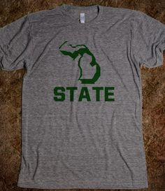 Sparty Unisex Athletic Tee via Skreened $28.99