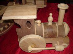 Woodworking Handmade Boy  Girl Toy Train by SandJPaperandWood, $90.00