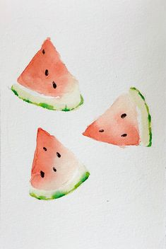 Watermelon Watercolor Painting Tutorial and Home Decor ideas – Mahsa Watercolor … - Fruit Watercolor Fruit, Watercolor Drawing, Watercolor Artists, Abstract Watercolor, Watercolor Journal, Watercolor Art Paintings, Watercolor Ideas, Painting Abstract, Oil Paintings