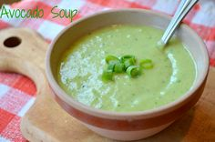 Chilled Avocado Soup with Lemon and Smoked Paprika