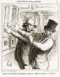 Planche n° 10 de la série Croquis pris au Salon par Daumier.