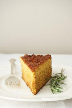 rosemary roasted butternut cake {AIP, Paleo, SCD (use honey instead of maple syrup) } Paleo Dessert, Dessert Recipes, Desserts, Brunch Recipes, Cupcakes, Cupcake Cakes, Muffins, Paleo Baking, Roasted Butternut