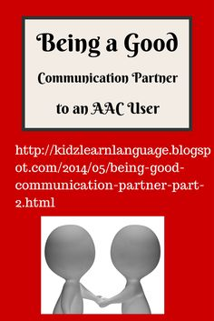 Communication strategies for AAC users
