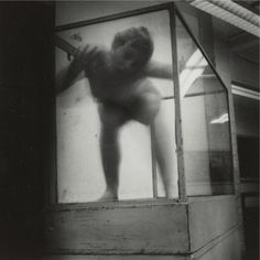 Francesca Woodman  From 'Space Squared, Providence'  Vintage Gelatin Silver Print  13.3 x 14 cms (5.23 x 5.50 ins)  1975