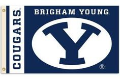 Brigham Young Cougars  • NCAA Licensed – $19,00 FREE Shipping • Flags is quality Polyester and Nylon with grommets. • 3 ft x 5 ft – With double stitching around edges. • Flag can be used inside or out. • New - unused in original factory packaging • Usually ships within 72 hours or less with tracking. • Satisfaction guaranteed or your money back. We accept all Major credit cards, PayPal, Money orders, • We offer no pick-ups – we sell from our website Sportsworldwest.com
