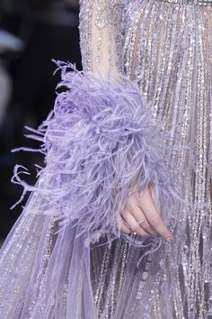 Couture Details, Fashion Details, Couture Fashion, Runway Fashion, Pure Couture, Lavender Aesthetic, Elie Saab Spring, Elie Saab Couture, Ellie Saab