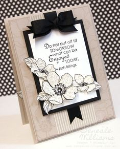 3/8/2012; Teneale Williams at her website using SU stamps:  Fabulous Florets and Clearly for you