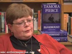 Interview with Tamora Pierce    What a terrific message she brings people! The power of literature and how to get(/she got)through tough times.