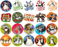 Penguins of Madagascar stickers i reallllly want these xD
