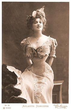justcorsets: Vintage corset outfit inspiration Arlette Dorgére Isadore Rush Unknown Daisy Greville Unknown Don't remove the credits!