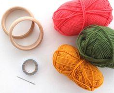 Fun Accessory DIY: Woven Yarn Bangles | My Poppet Makes