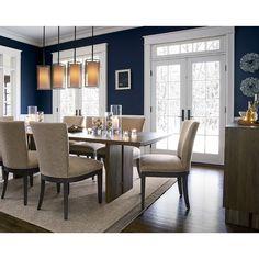 Dining Room Blue, Dining Room Walls, Dining Room Design, Modern Dining Room Furniture, Living Room, Dining Room Paint Colors, Dining Table, Room Chairs, Dining Area