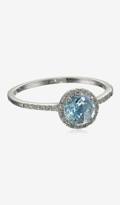 Suzanne Kalan The Classics 6mm Round Blue Topaz Ring