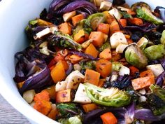 Make Your First Organic Garden A Success Roasted Fall Vegetables, Roasted Vegetable Recipes, Mixed Vegetables, Root Veggies, Paleo Side Dishes, Veggie Side Dishes, Side Dish Recipes, Vegetable Sides, Healthy Eating Recipes
