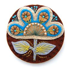 felt~~ with embroidery  #felt #sew #embroidery