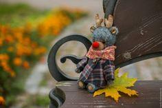Купить сказка о цветах - комбинированный, олень, рога, авторская игрушка, сказочный персонаж