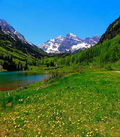 Title  Spring Colors In Maroon Bells  Artist  Dan Sproul  Medium  Photograph - Photograph-digital