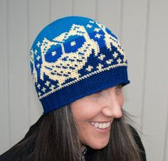 Looking for your next project? You're going to love All Ages Owls Up All Night Beanie by designer Deja Jetmir.