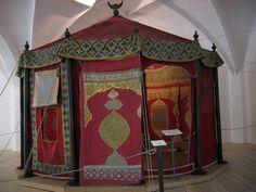 Salon-Tente  de Guerre Ottomane, du grand vizir du sultan Ottoman et calife de l'Islam Sulayman al Kanouni le Magnifique en 1550.