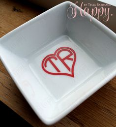 CUTE Simple Ring Dish for Jewelry Minimalist Heart by HappyTessa