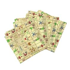 Amarela Dinner Napkins featuring Vintage 12 days of Christmas by…