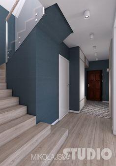 Home Stairs Design, Interior Stairs, Home Interior Design, House Design, Stair Plan, Bathroom Under Stairs, House Staircase, Hallway Designs, New House Plans