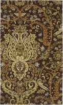 Ancient Treasures Collection Floral Hand Tufted Wool Traditional Area Rug