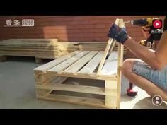 20 Brilliant DIY Pallet Furniture Design Ideas to Inspire You - diy pallet creations Pallet Garden Furniture, Diy Furniture Couch, Diy Sofa, Diy Outdoor Furniture, Palette Furniture, Furniture Movers, Furniture Outlet, Furniture Companies, Furniture Stores