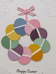 Personally Yours...Creating & Making it Personally Yours: Paint Chip Inspiration #6: Easter Egg Wreath