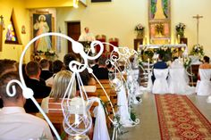 #wedding #church #decorations #candles
