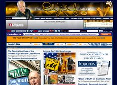 The Rush Limbaugh website is a great political web design example to show how often featured content can change and how important clean navigation is.