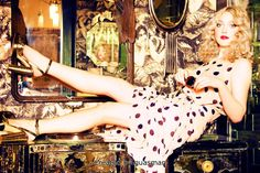 Dakota Fanning - Ellen von Unwerth Photoshoot 2012