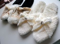 How to Make Your Own Slippers! DIY sewing tutorial by Meg of @burdastyle - featuring Cloud Spa Cuddle http://www.shannonfabrics.com/index.php?main_page=advanced_search_result&search_in_description=1&keyword=cloud+spa and Faux Fur Snow Leopard White/Taupe http://www.shannonfabrics.com/faux-fur/prints/snow-leopard-fur-white-taupe and Cuddle 3 in Black