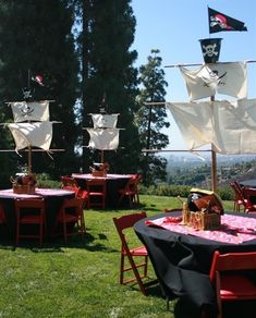 Pirate party tables.  So cool for a boy's party! by christie