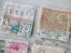 shabby chic fabric tiles #paris#fabric#mosaictiles#french