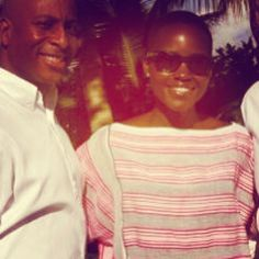 Star of 12 Years a Slave and woman of the moment Lupita Nyong'o on vacation in Montego Bay wearing lemlem