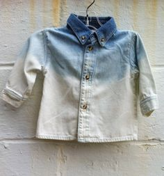 Ombre Denim Shirt.This is actually meant for a baby but can be done with adult clothing.Babies cant have all the fun right?