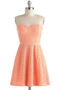 12 Graduation Dresses To Rush Order Now #refinery29  http://www.refinery29.com/46997#slide9  ModCloth Little Bow Peach Dress, $47.99, available at ModCloth.