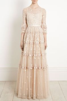 bb10acc13d17 NEW to Bridal Autumn/Winter The Roses Gown in Champagne Grey combines  intricate embroidery with