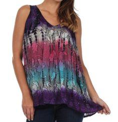 Sakkas 50831 Multi-Color Tie Dye Floral Sequin Sleeveless Blouse - Purple - One Size Sakkas,http://www.amazon.com/dp/B00EA4PZSE/ref=cm_sw_r_pi_dp_atiotb0S8445WXEP