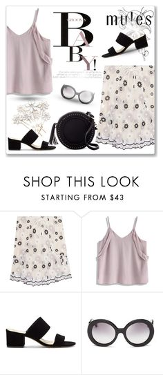 """""""Slip 'Em On: Mules"""" by andrejae ❤ liked on Polyvore featuring See by Chloé, Chicwish, Emmy London, Vince Camuto, November, Prada, Urban Expressions, mules, polyvoreeditorial and polyvorecontest"""
