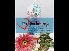 MixedMedia TAG, Designpapier GreenLEAVES, #KreativeFantasy - YouTube Tags, Etsy, Youtube, Ideas, Youtubers, Mailing Labels, Youtube Movies
