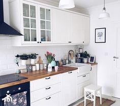 Kuchnia w stylu skandynawskim - Średnia otwarta kuchnia jednorzędowa, styl skandynawski - zdjęcie od ania.home
