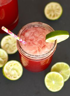 Skinny Pomegranate Margarita - Simply Happenstance